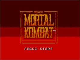 Title screen of Mortal Kombat on the Sega Master System.