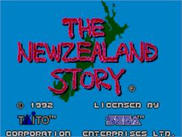 Title screen of New Zealand Story on the Sega Master System.