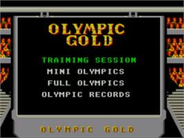 Title screen of Olympic Gold: Barcelona '92 on the Sega Master System.