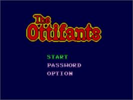 Title screen of Ottifants, The on the Sega Master System.