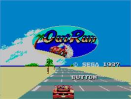 Title screen of Out Run on the Sega Master System.