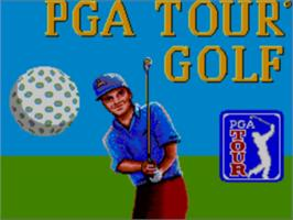 Title screen of PGA Tour Golf on the Sega Master System.