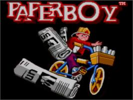 Title screen of Paperboy on the Sega Master System.