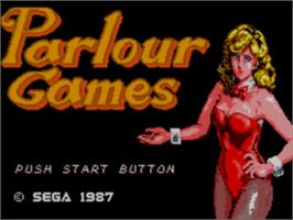 Title screen of Parlour Games on the Sega Master System.