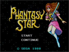 Title screen of Phantasy Star on the Sega Master System.