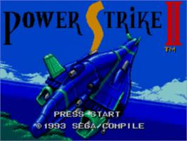 Title screen of Power Strike 2 on the Sega Master System.