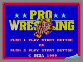 Title screen of Pro Wrestling on the Sega Master System.