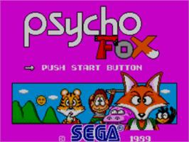 Title screen of Psycho Fox on the Sega Master System.