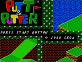 Title screen of Putt & Putter on the Sega Master System.
