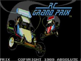 Title screen of R.C. Grand Prix on the Sega Master System.