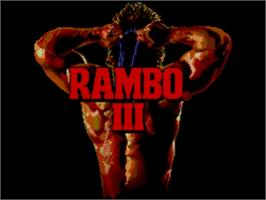 Title screen of Rambo III on the Sega Master System.