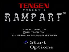 Title screen of Rampart on the Sega Master System.