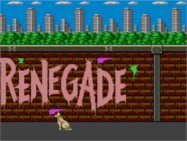 Title screen of Renegade on the Sega Master System.