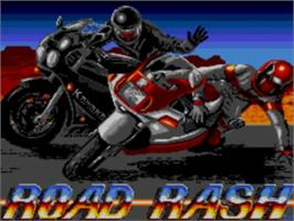 Title screen of Road Rash on the Sega Master System.