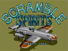 Title screen of Scramble Spirits on the Sega Master System.