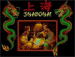 Title screen of Shanghai on the Sega Master System.