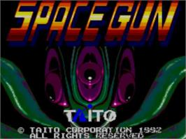 Title screen of Space Gun on the Sega Master System.