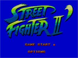 Title screen of Street Fighter II' - Champion Edition on the Sega Master System.