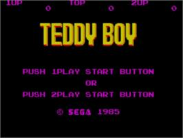 Title screen of Teddy Boy on the Sega Master System.
