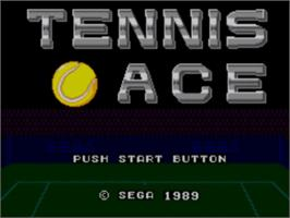 Title screen of Tennis Ace on the Sega Master System.