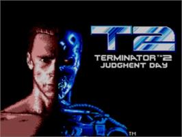 Title screen of Terminator 2 - Judgment Day on the Sega Master System.
