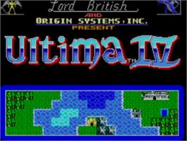 Title screen of Ultima IV: Quest of the Avatar on the Sega Master System.