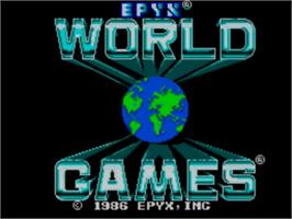 Title screen of World Games on the Sega Master System.