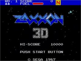 Title screen of Zaxxon 3-D on the Sega Master System.