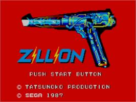 Title screen of Zillion on the Sega Master System.