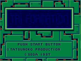 Title screen of Zillion 2: Tri Formation on the Sega Master System.