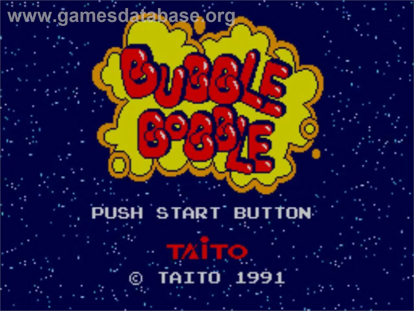 Bubble Bobble - Sega Master System - Artwork - Title Screen