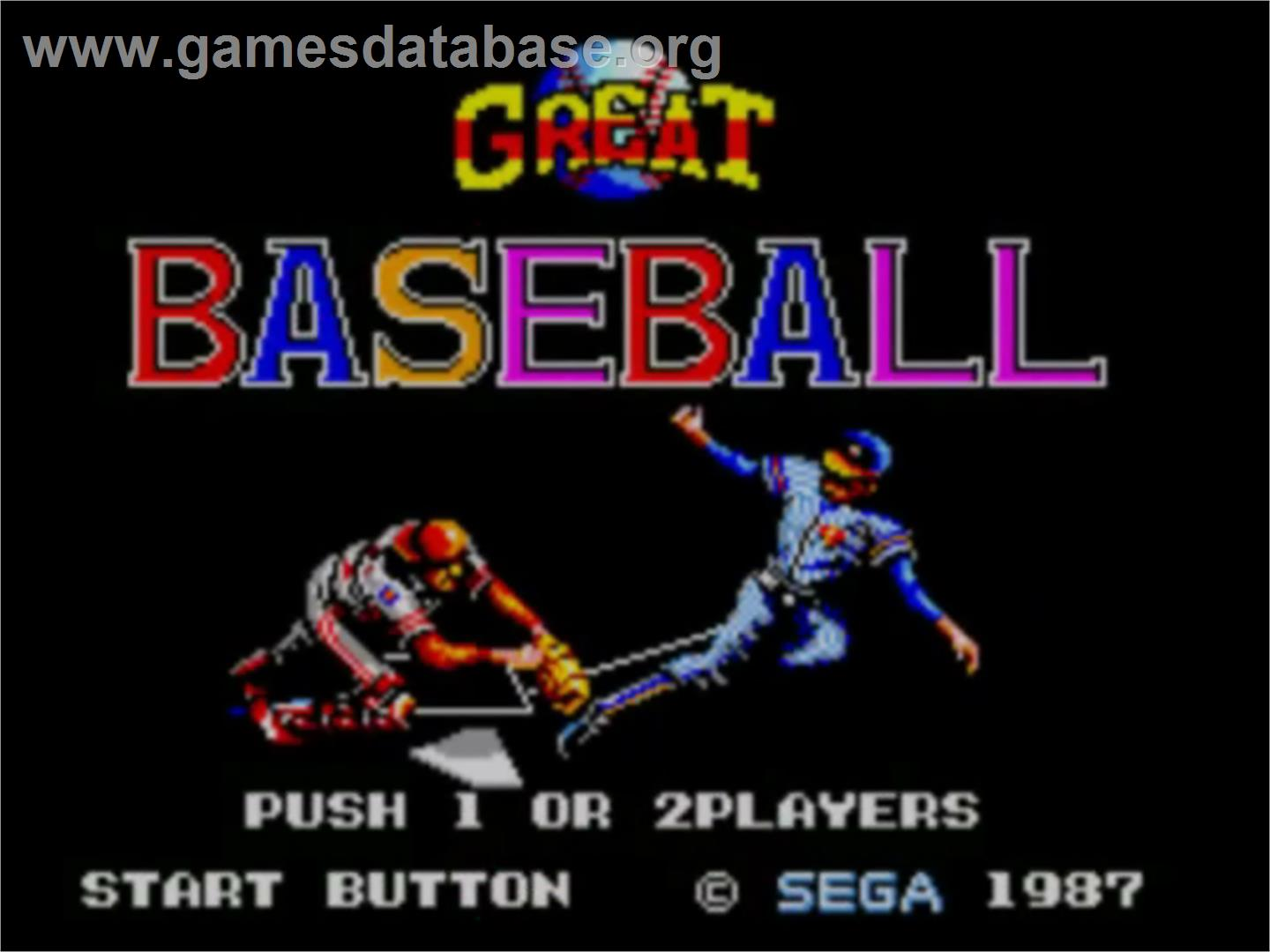 Great Baseball - Sega Master System - Artwork - Title Screen
