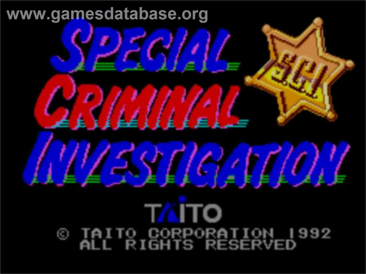 Special Criminal Investigation - Sega Master System - Artwork - Title Screen