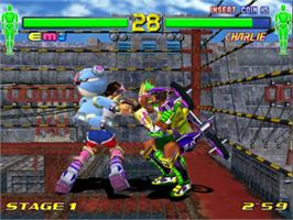 In game image of Fighting Vipors 2 on the Sega Model 3.