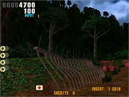 In game image of The Lost World on the Sega Model 3.
