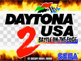 Title screen of Daytona USA 2 on the Sega Model 3.