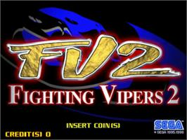 Title screen of Fighting Vipors 2 on the Sega Model 3.