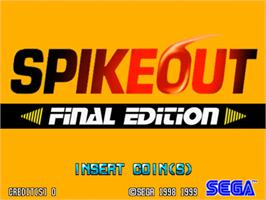 Title screen of Spikeout on the Sega Model 3.