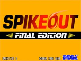 Title screen of Spikeout Final Edition on the Sega Model 3.
