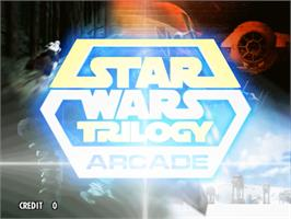 Title screen of Star Wars Trilogy on the Sega Model 3.