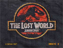 Title screen of The Lost World on the Sega Model 3.