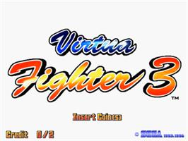 Title screen of Virtua Fighter 3 on the Sega Model 3.