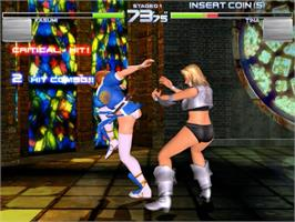 In game image of Dead or Alive 2 on the Sega Naomi.