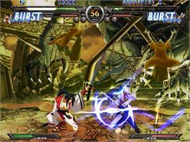 In game image of Guilty Gear XX #Reload on the Sega Naomi.