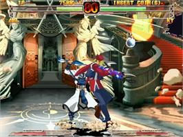In game image of Guilty Gear XX on the Sega Naomi.