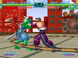 In game image of Toy Fighter on the Sega Naomi.
