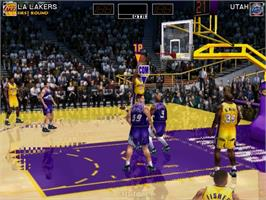 In game image of Virtua NBA on the Sega Naomi.