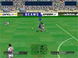 In game image of Virtua Striker 2 Ver. 2000 on the Sega Naomi.