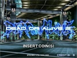 Title screen of Dead or Alive 2: Millennium on the Sega Naomi.