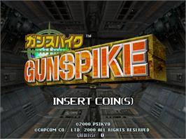 Title screen of Gun Spike on the Sega Naomi.
